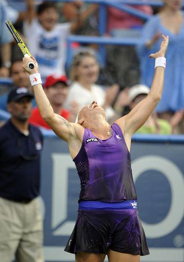 Svetlana Kuznetsova Of Russia Celebrates After Defeating Kurumi Nara Of Japan In The Women S Final Match At The C Tennis Players Svetlana Kuznetsova Tennis