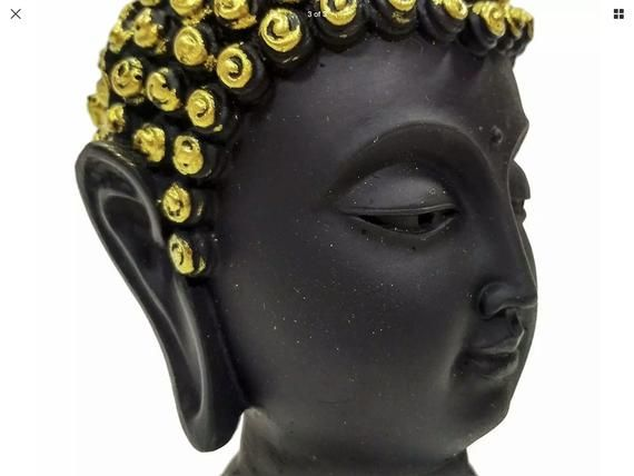 Lord Buddha Face Statue Showpiece Black Buddha Face Idol for Gifting and home Decor #buddhadecor