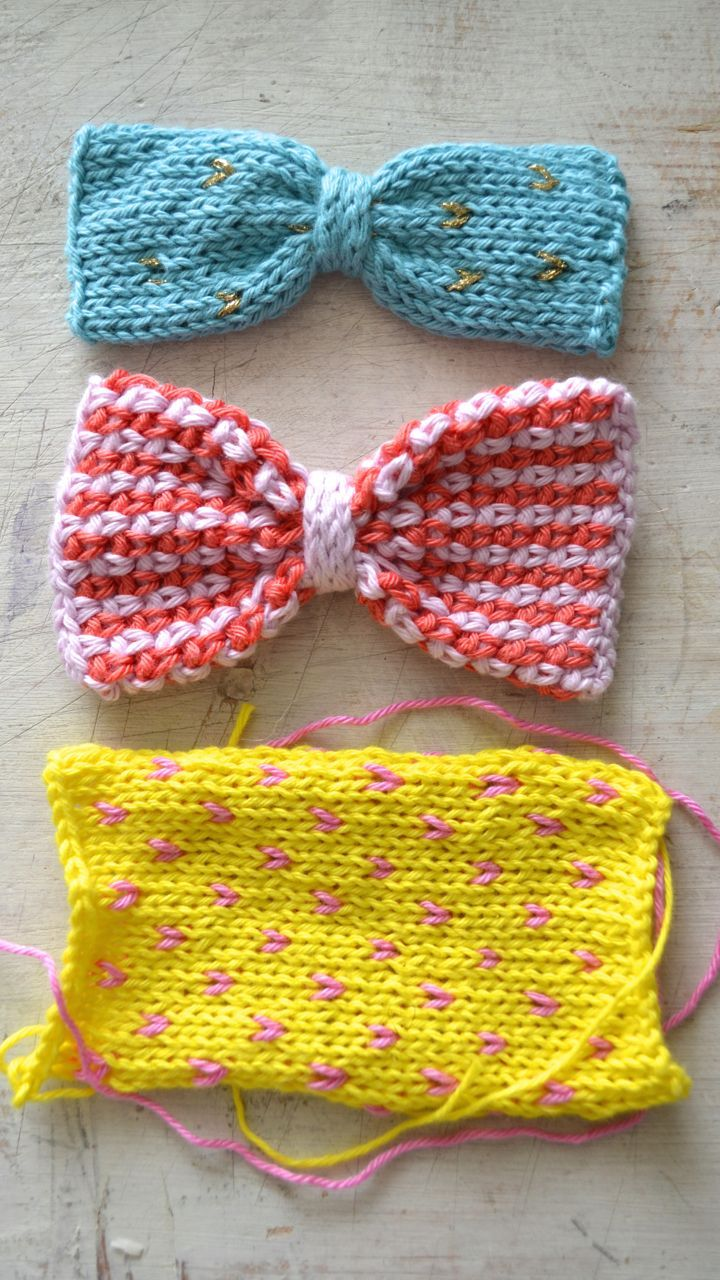 crocheted and knitted bows from my book Vive la vie ...
