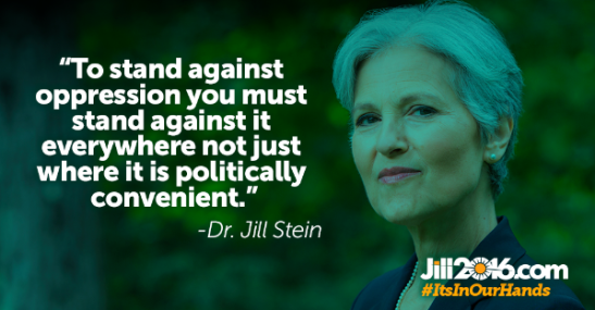 Don't settle for the lesser of two evils in this election. Vote for the Green party