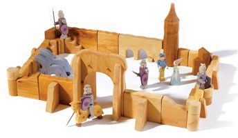 Ostheimer Figures @WoodenWagon.  Castles, Farms, Figures - Amazing.