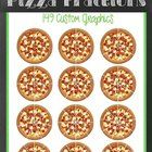 This set includes 149 full colored, The Works (All Toppings)  Pizza Themed, Round Fractions!! Create Delicious Math Centers and Resources!!  Fracti...