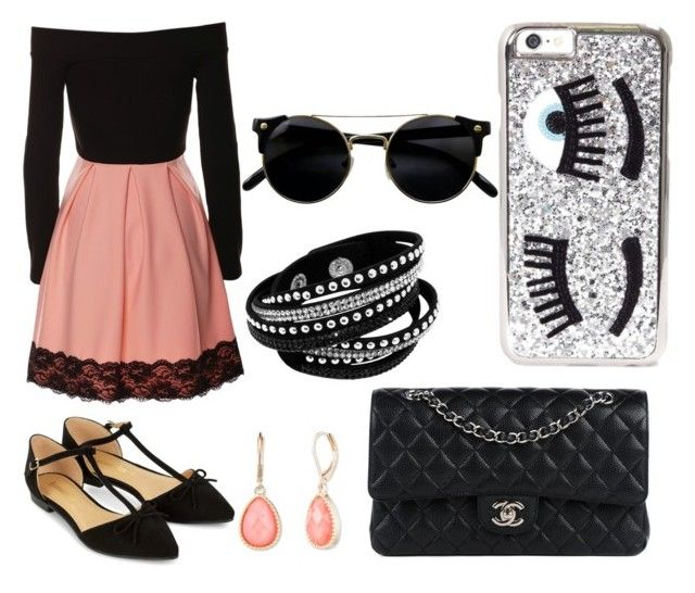 """""""London #1"""" by kayla-rogers123 on Polyvore featuring Accessorize, Chanel, Chiara Ferragni and Vintage America"""