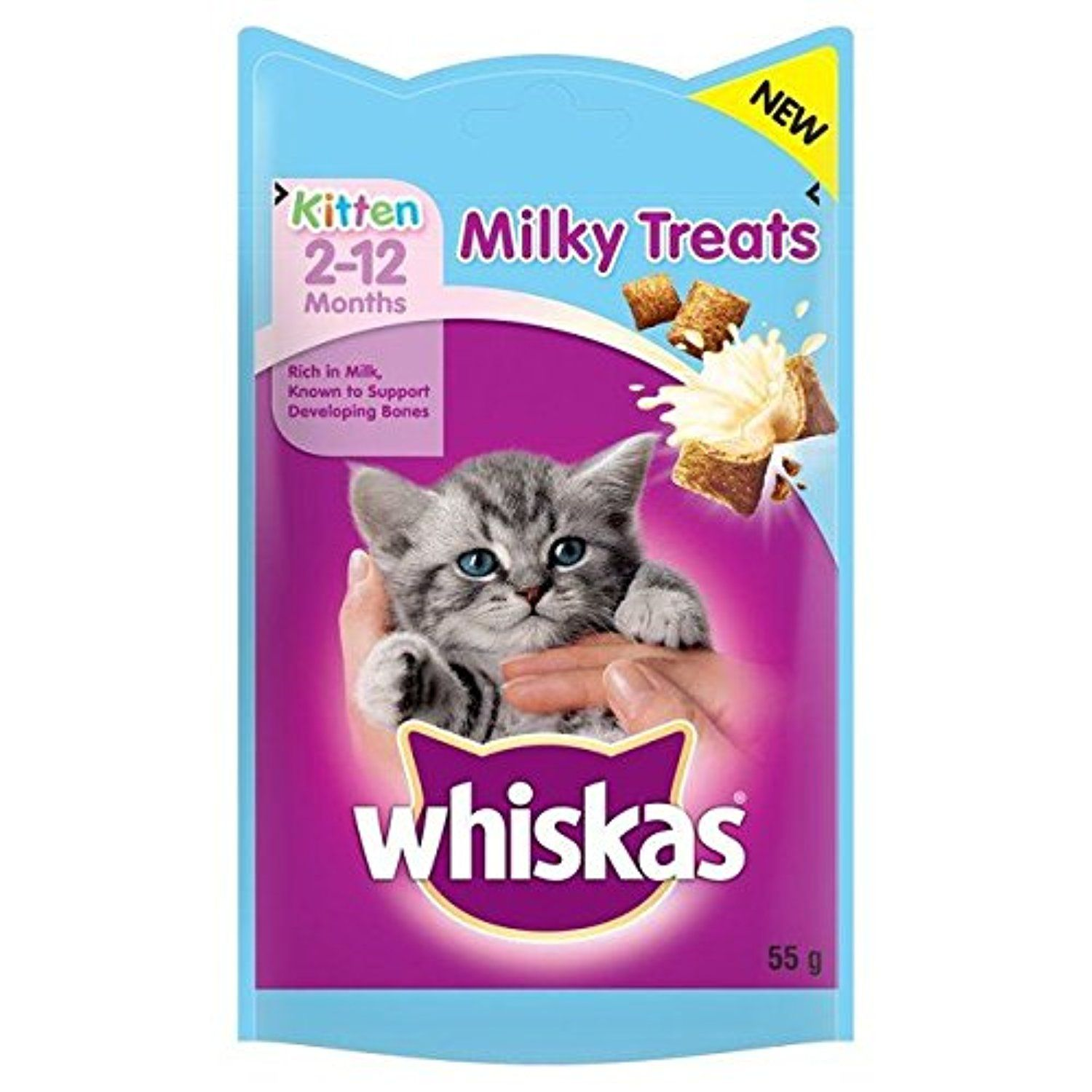 Whiskas Kitten 2 12 Months Milky Treats 55g Pack Of 6 Awesome Products Selected By Anna Churchill Kitten Treats Cat Treats Cat Snacks