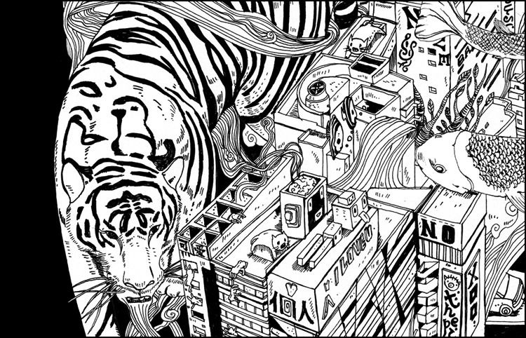 Illustration::Tiger City - Shan