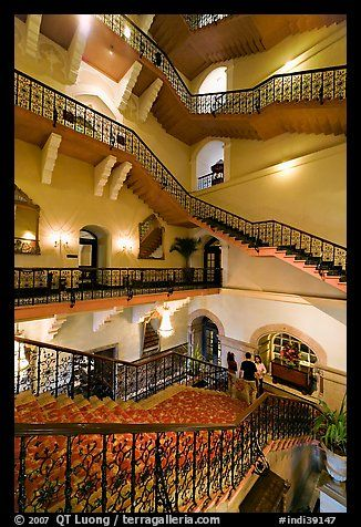 Staircase inside Taj Mahal Palace Hotel, Mumbai ...