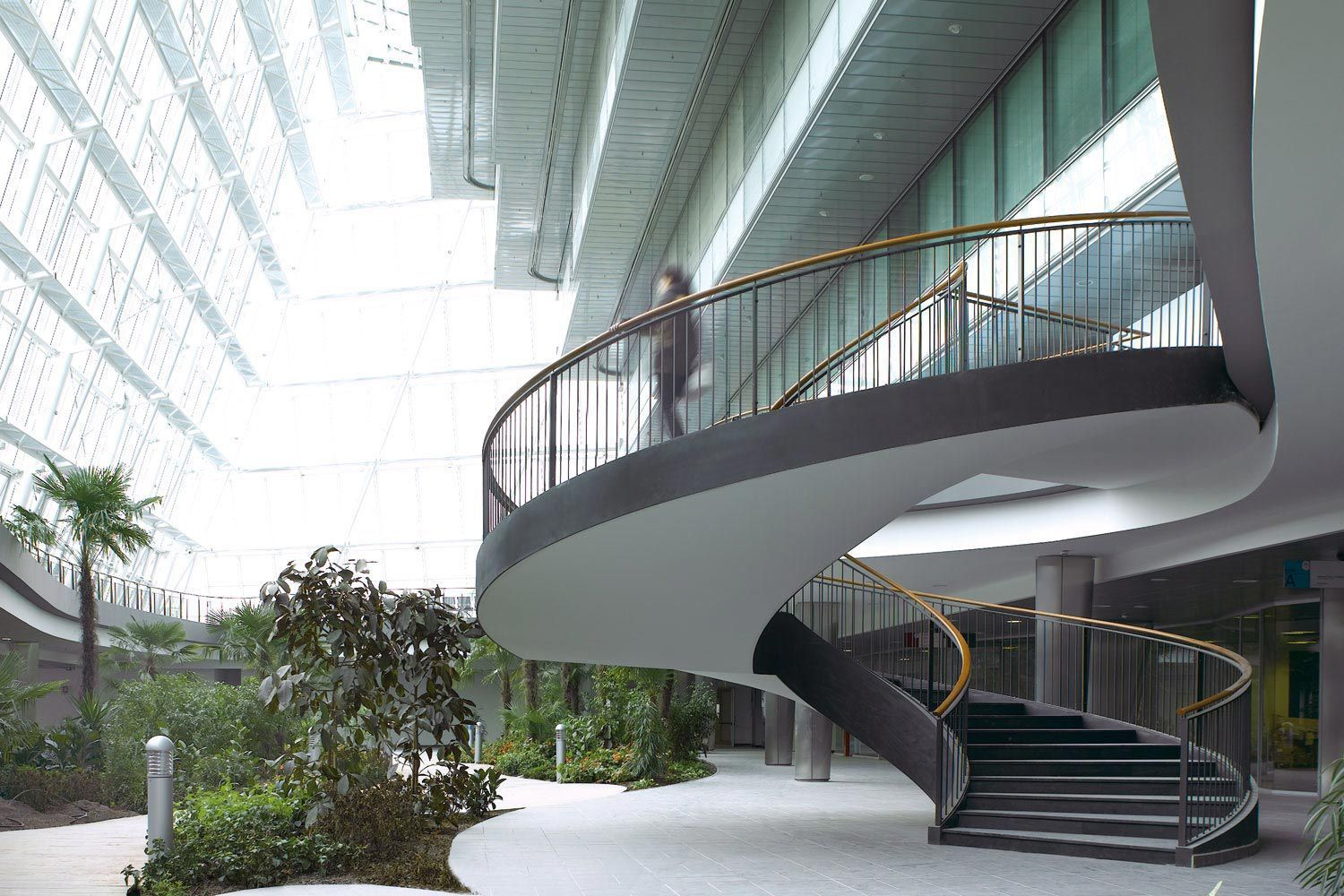 Circular Staircase Steel Frame Lateral Stringer For