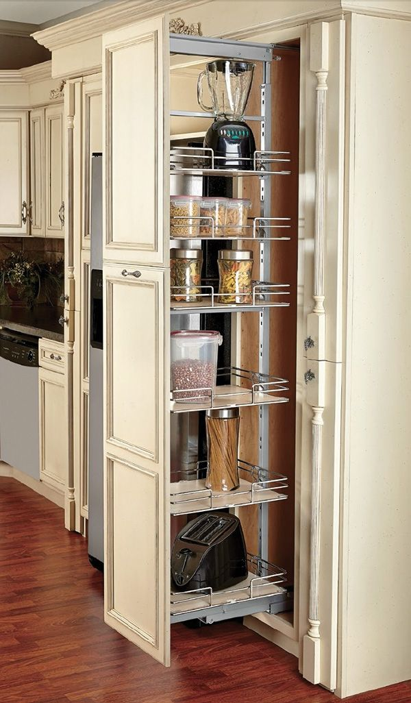 Compagnucci Pantry Units Pull Out Soft Close   Chrome/Maple