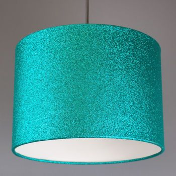 Aqua Green Glitter Lampshade Available In Lots Of Other Colours Glitter Lampshade Glitter Bedroom Teal Light Shades