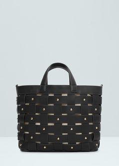 Çapraz dokuma shopper çanta