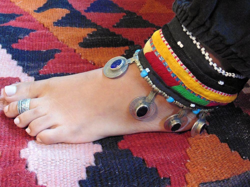 Antique  Kuchi Tribal Anklet Belly Dance Afghani Ethnic Boho Gypsy Statement