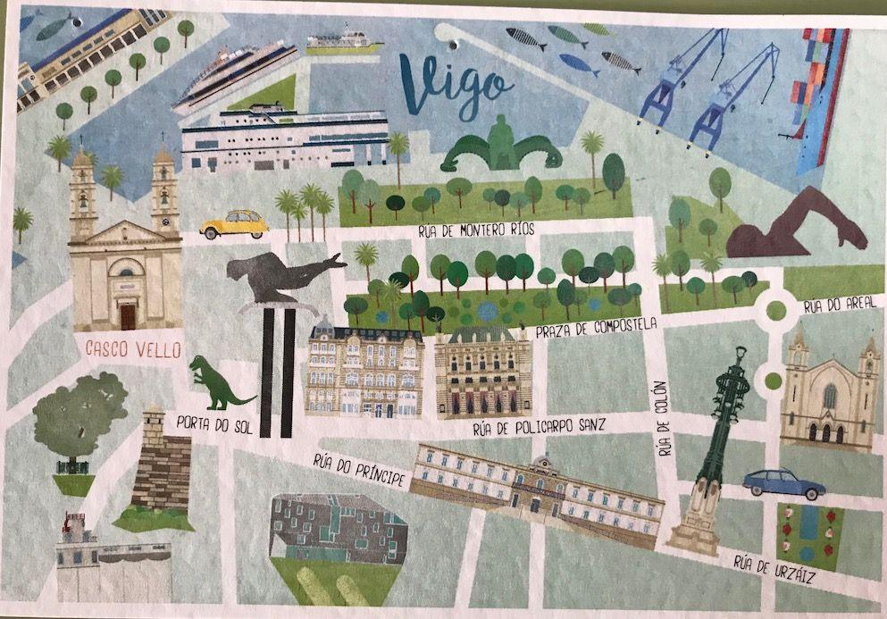 Plano Vigo Destinos Viajes Viajes Literatura