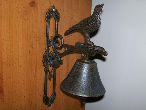 Antique Cast Iron Ornate Door Bell Knocker