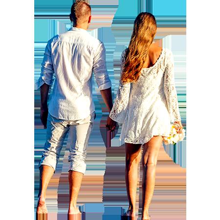 Couple In White On Beach Immediate Entourage People Png Immediate Entourage Render People