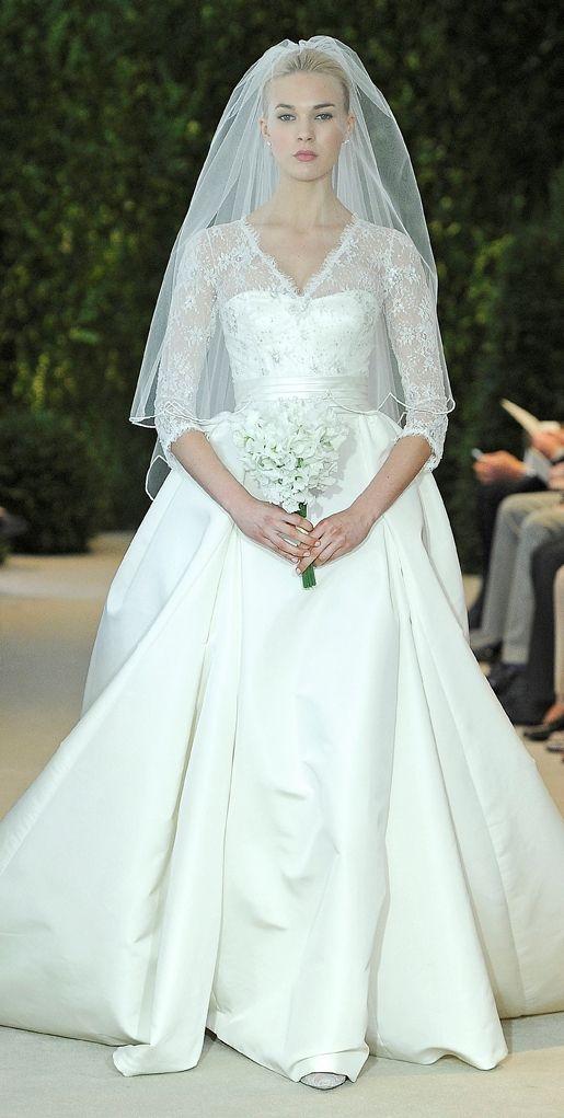 """Annemarie"" Bridal Spring 2014 #lace #carolinaherrera #weddingdress"