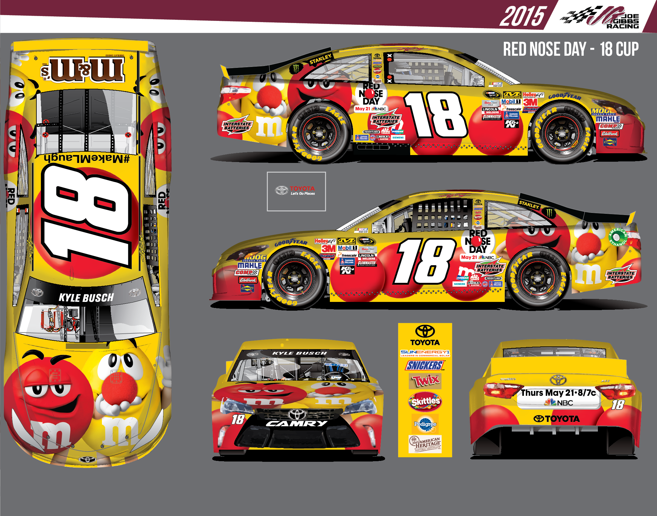 Paint schemes coca cola 600 free download image about all car type - Erik Jones Will Run The M M S Red Nose Day Scheme At Kansas In May And Kyle