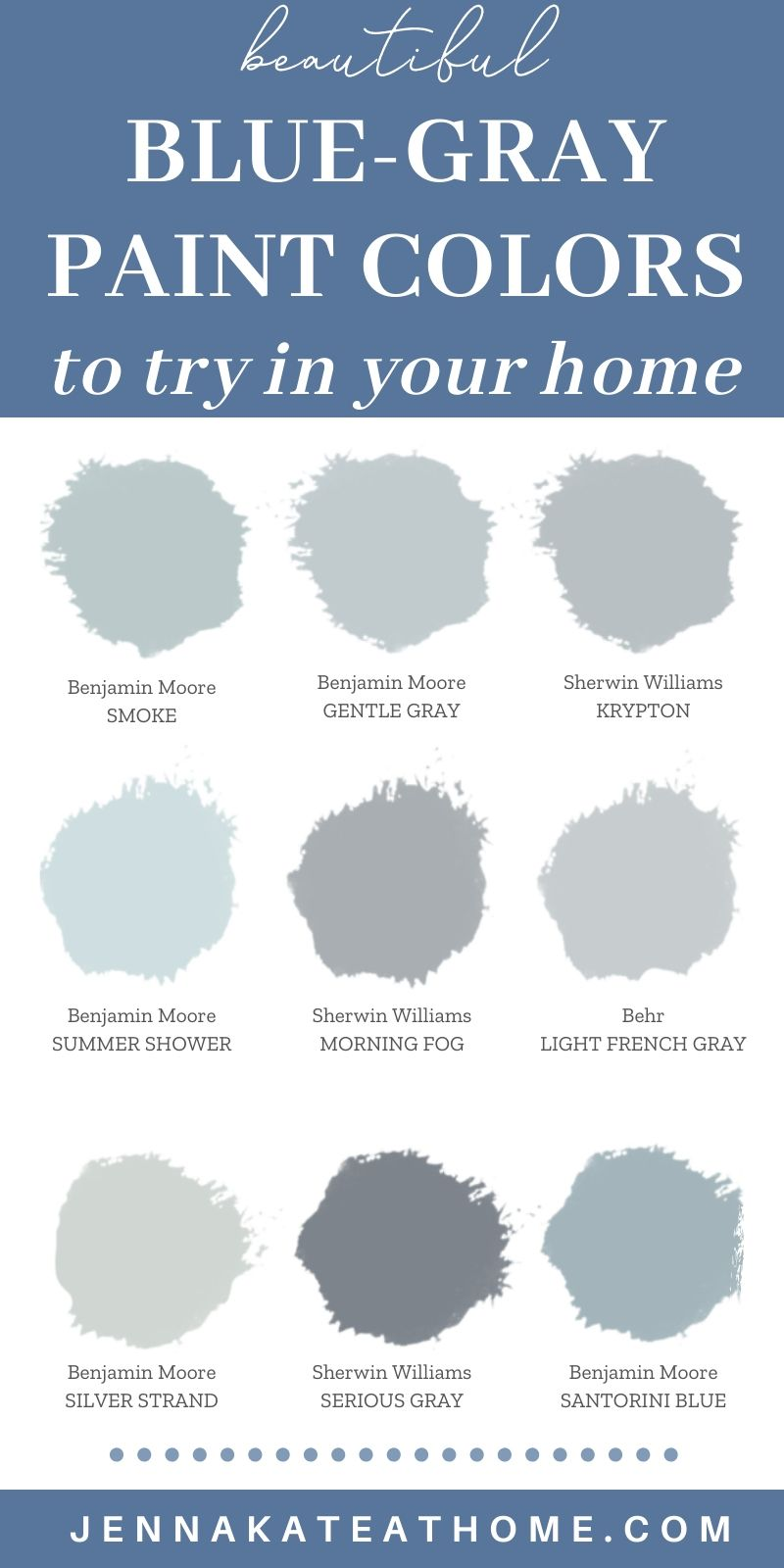 The Best Blue Gray Paint Colors In 2020 Blue Gray Paint Colors Blue Gray Paint Grey Paint Colors