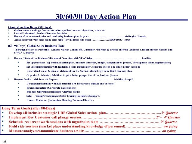 30 60 90 Day Plan Template Sales Manager   Google Search