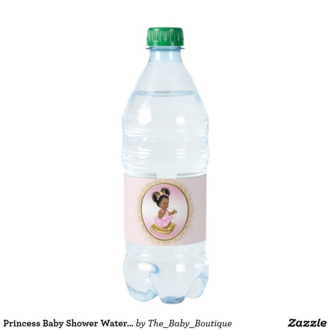 Princess Baby Shower Water Bottle Labels Ethnic Girl Baby Shower