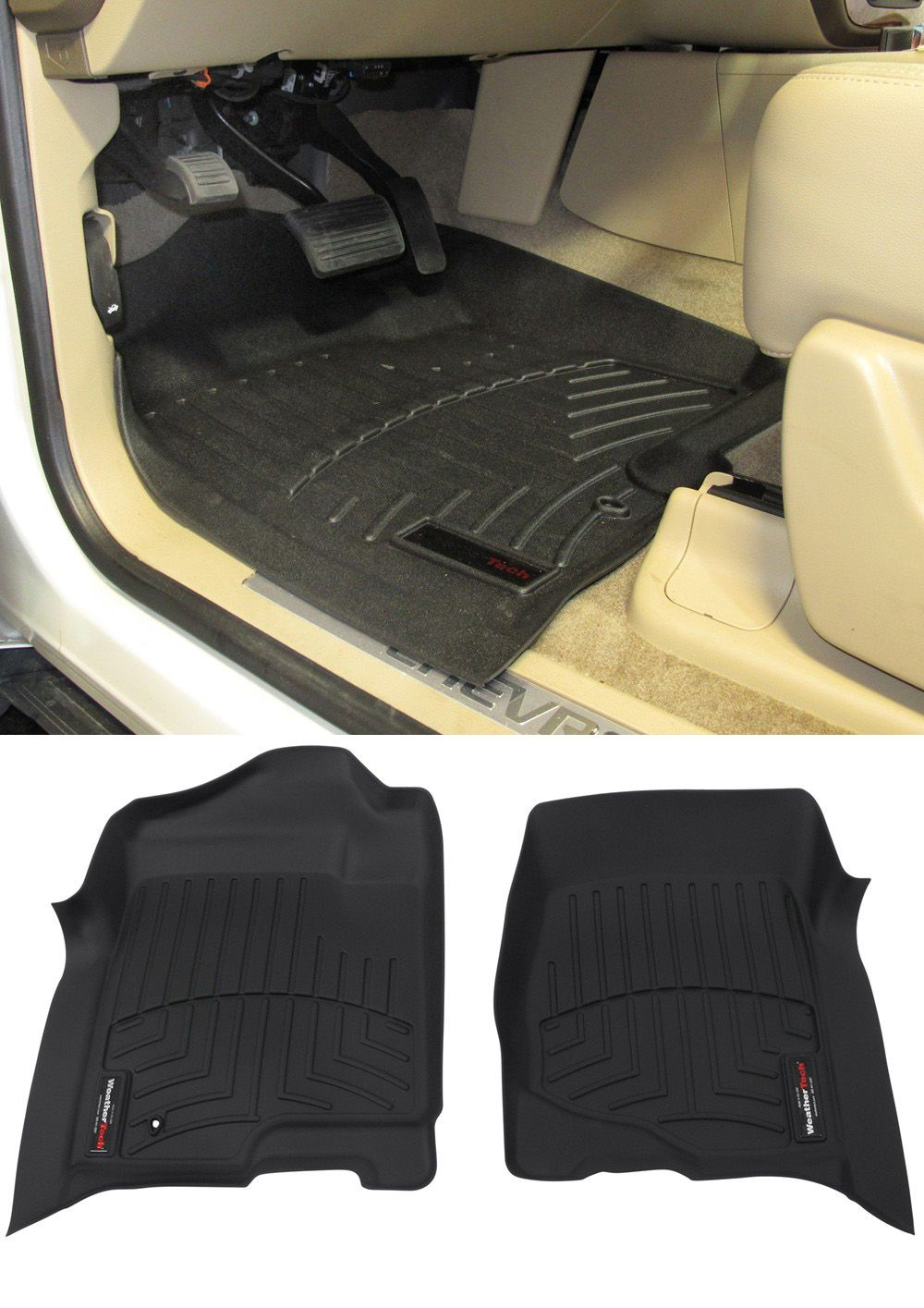 2013 Chevrolet Silverado Floor Mats WeatherTech Chevy