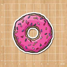 Donut Notebook/refrigerator/skateboard/trolley case/backpack/Tables/book sticker PVC sticker