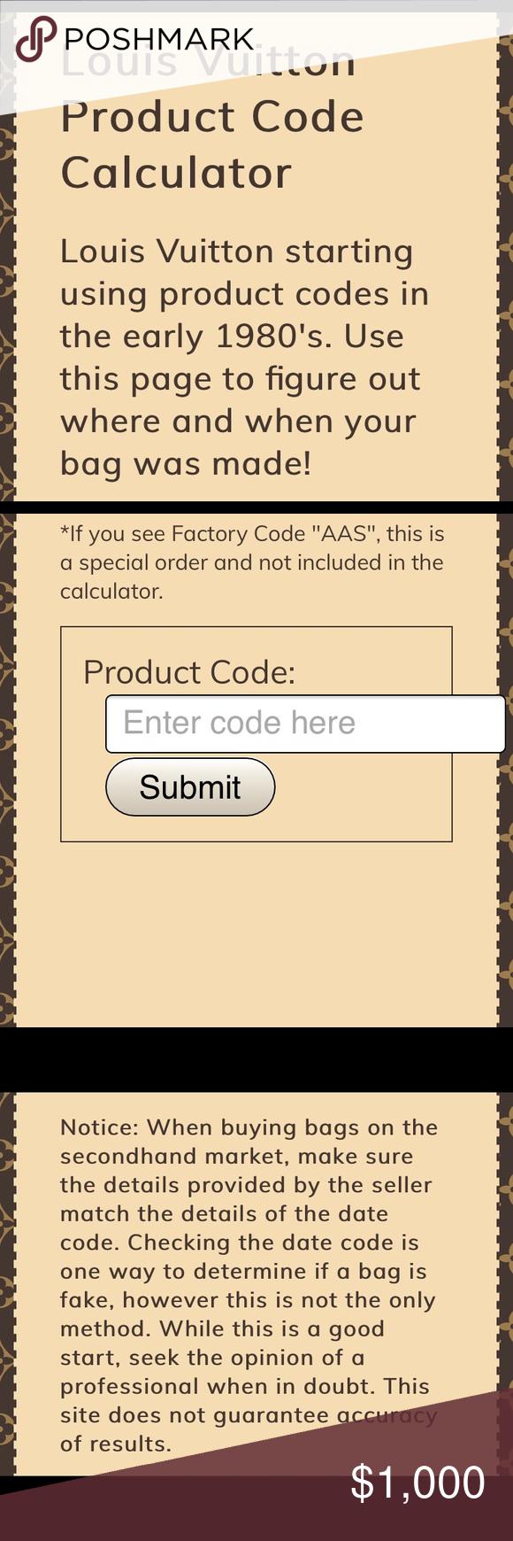 Louis vuitton date code list