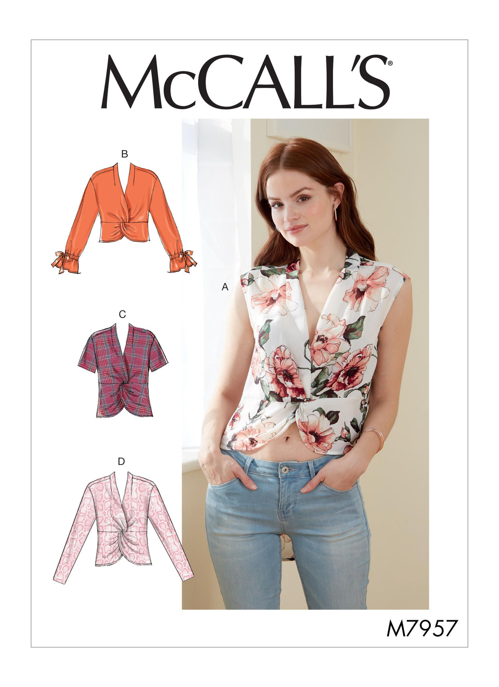 M7957 Mccall S Misses Tops Sewing Pattern Mccallspatterns