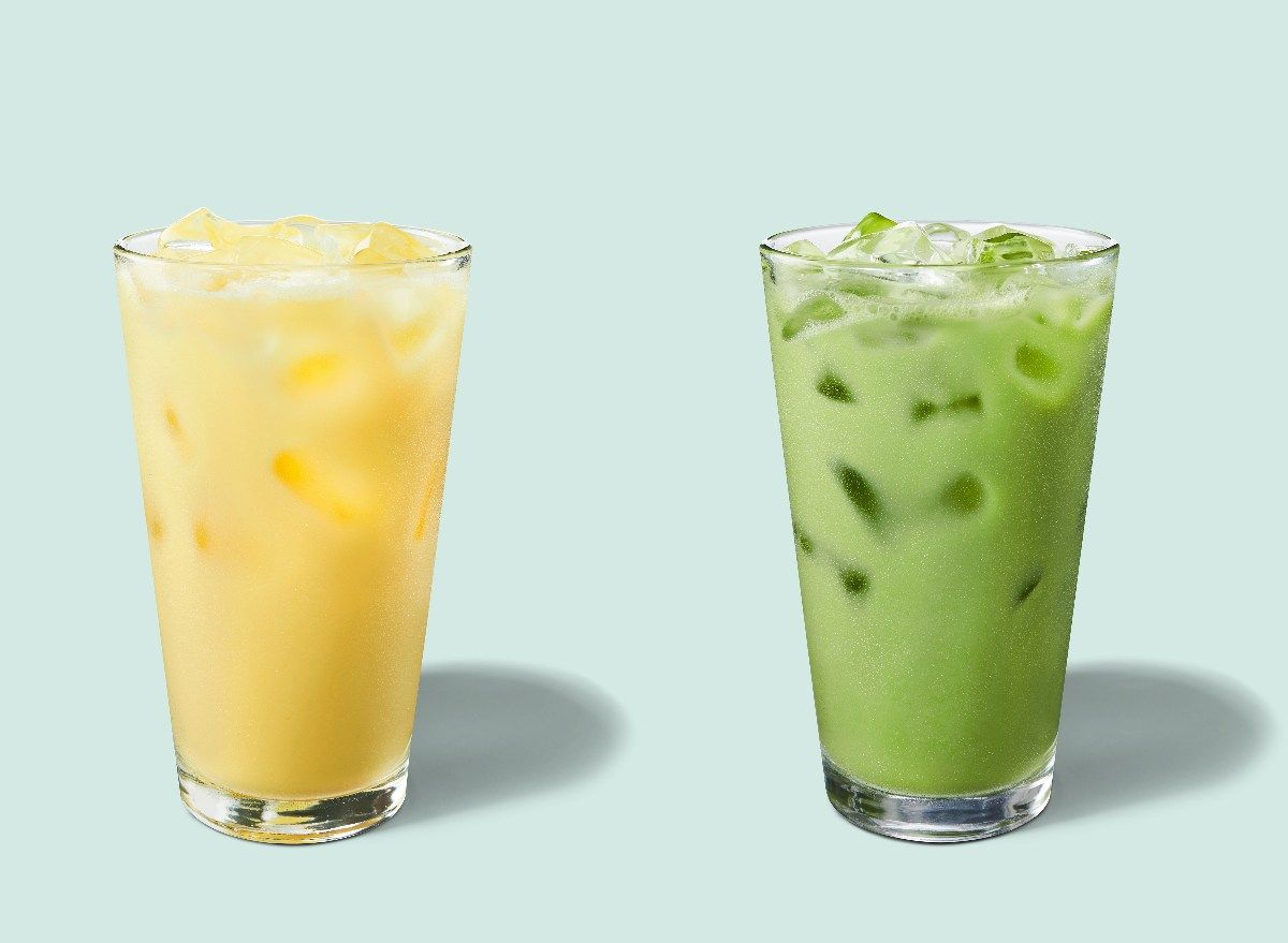 Starbucks Has Two New Iced Drinks For Spring Featuring Matcha And Turmeric In 2020 High Potassium Foods Potassium Foods Iced Drinks