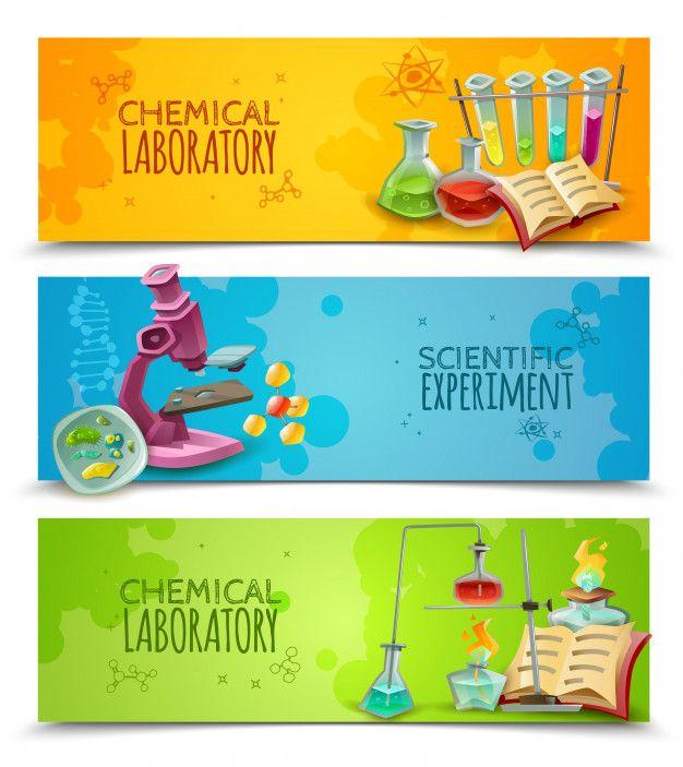 Chemical research laboratory equipment F  Premium Vector