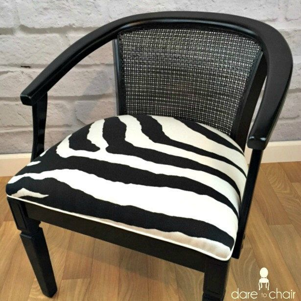 Black And White Modern Zebra Vintage Barrel Back Animal