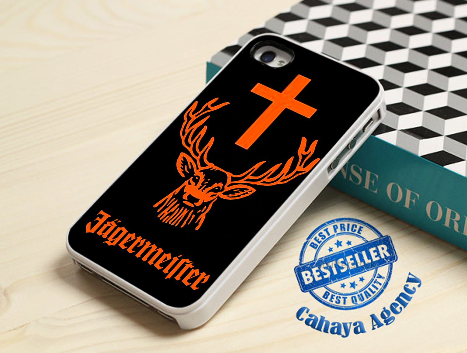 Jagermeister Logo iPhone 4,4s,5,5s,5c,6,6 plus,Samsung S3,S4,S5,iPod 4.5 Case