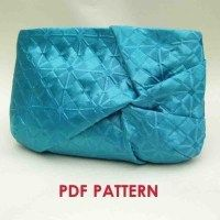 Convertible Twist Clutch Purse - PDF Sewing Pattern + How to Sew an Invisible Zipper and Use Universal Foot