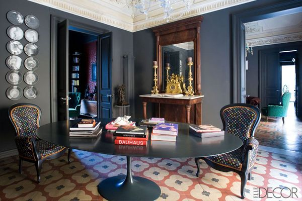Alain.R.Truong Design & Décoration Mehall Griffey and Jerry Maggi's apartment in Catania in ELLE DECOR