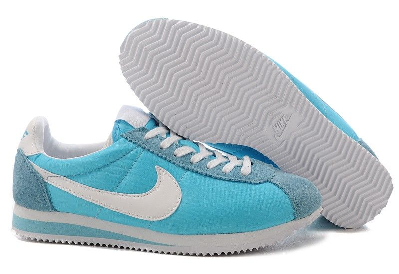 best sneakers ed558 3cff9 France Nike Cortez Nylon Vintage - Cyan Bleu Blanc - Homme Chaussures Vente  Chaussures Nike Cortez