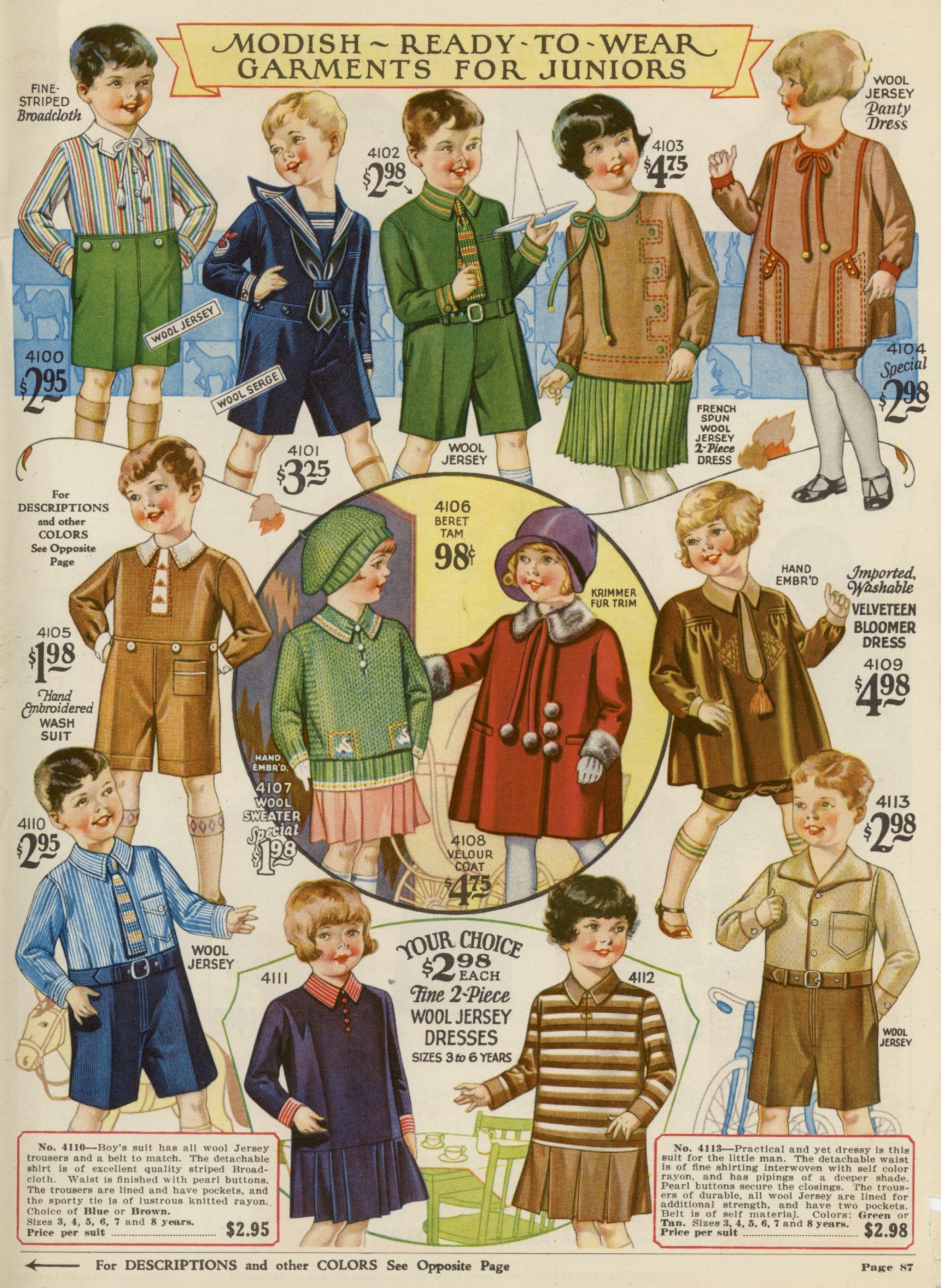 Vintage Catalog Page Herrschners Children S Garments