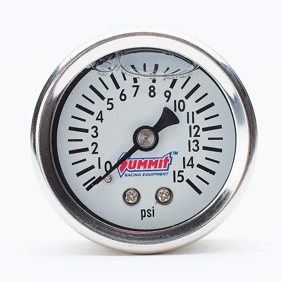 Summit Racing Analog Mechanical Gauges Summit Racing Fuel Pressure Gauge Gauges