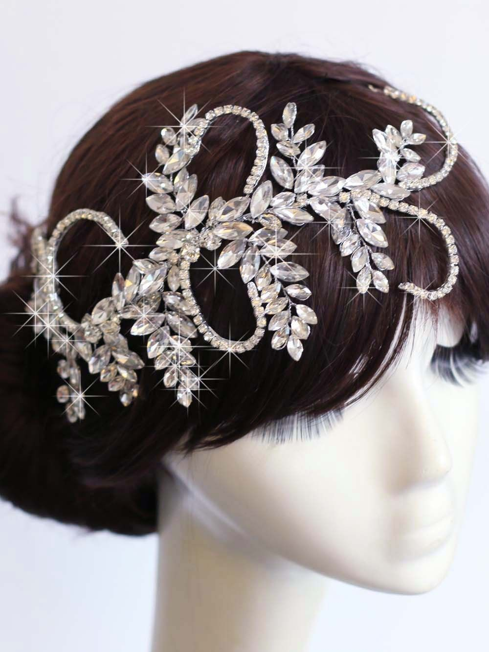 vintage princess crown wedding tiara bridal rhinestone headband