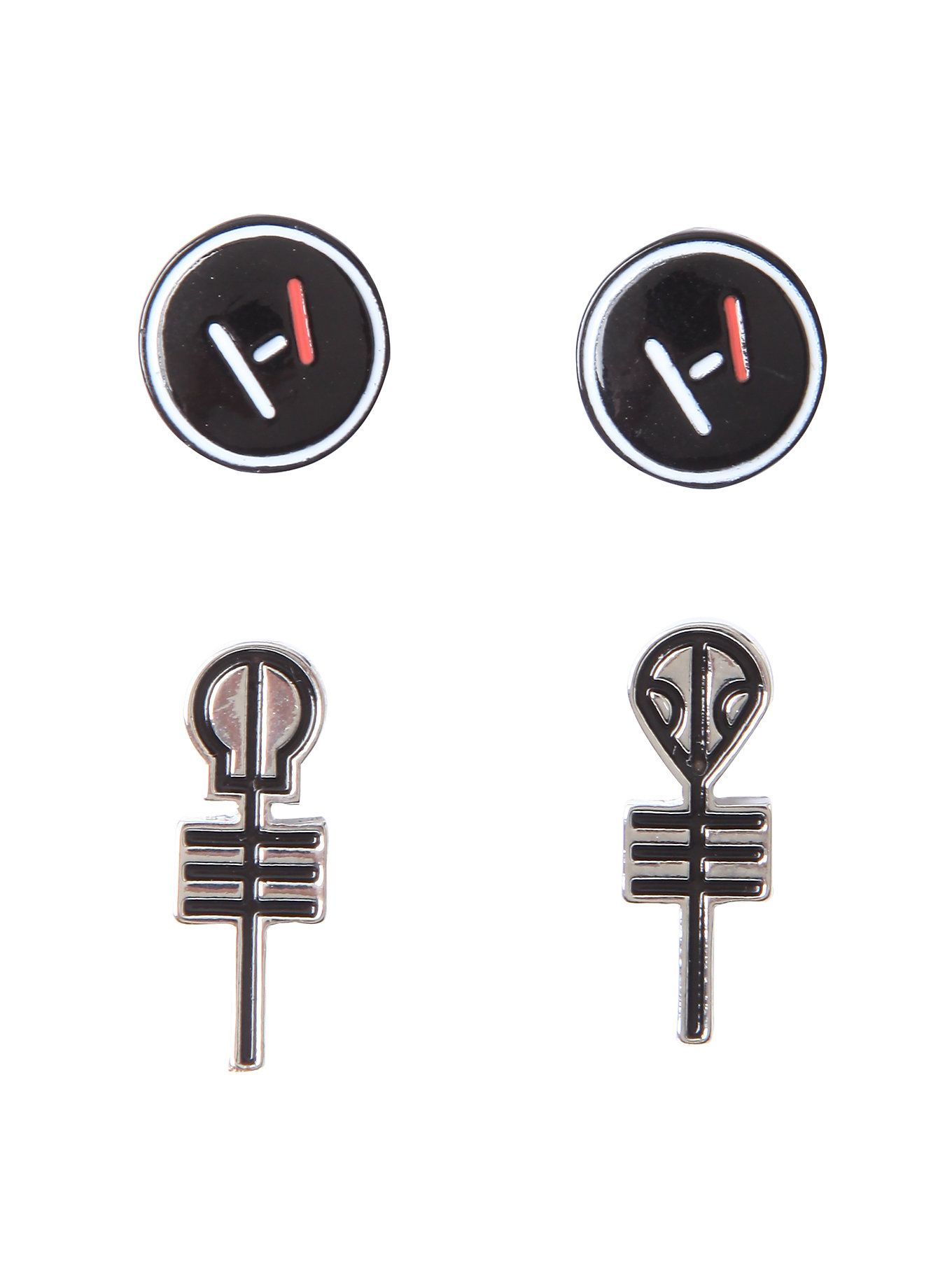 twenty one pilots symbols earring set ropa