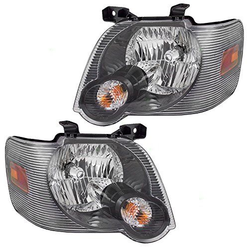 Driver And Passenger Headlights Headlamps With Smoked Lens Replacement For Ford Pickup Truck Suv 8l2z 13008 B 8l2 Explorer Sport Ford Explorer Sport Sport Trac