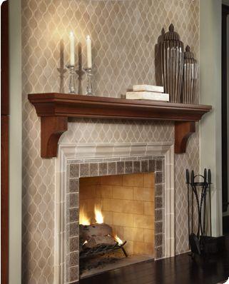 Byrd Tile Fireplace Tile Wood Fireplace Mantel Fireplace