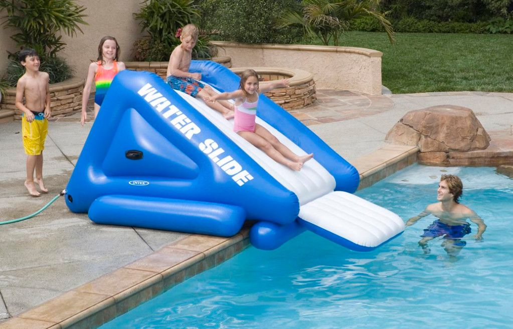 Above Ground Pool Slide, Portable Water Slide For Inground Pool