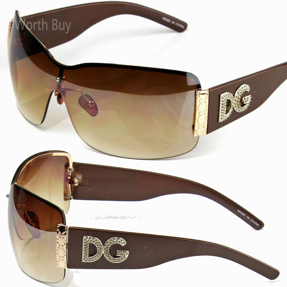 DG Eyewear Oversized Designer Women/'s Girls Trendy Wrap Cool Fashion Sunglasses