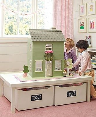 Inspiration From Pottery Barn Dollhouse Table With