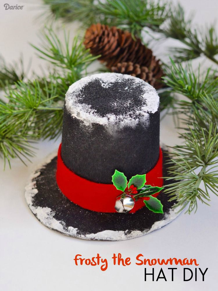 DIY Snowman Hat Decoration Tutorial Darice Diy snowman