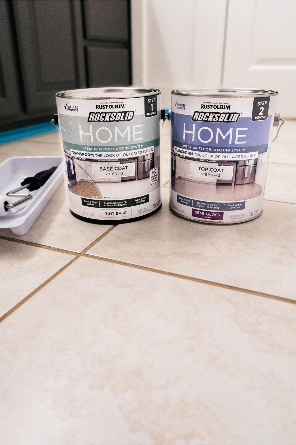 Diy How To Paint Ceramic Floor Tile Painting Ceramic Tile Floor Tile Floor Diy Painting Tile Floors