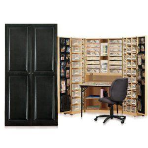 Original Scrapbox Workbox Scrapbooking Craft Desk Armoire From Amazon Com Scrapbooking Rangement Rangement Rangement Bureau