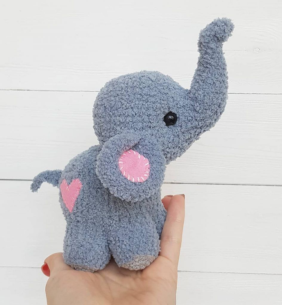 Crochet Elephant with Hat and Ball Amigurumi Free Pattern ... | 1024x945