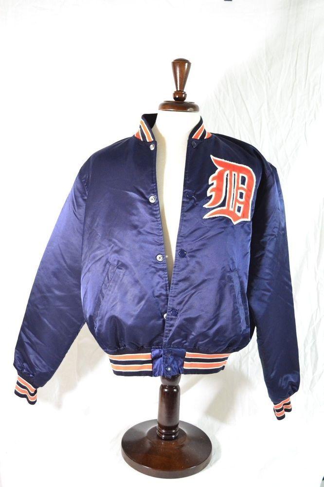 #Vintage #Detroit #Tigers #Starter Brand #MLB #SatinJacket size Large Bomber 80s 90s #Starter #DetroitTigers for sale in my @ebay store