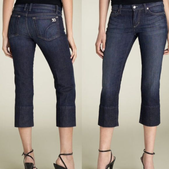 """Joe's """"Socialite Kicker"""" Stretch Capri Jean Narrow cropped jeans with deep hems in Kennedy, zip fly, five pocket styling.  Snug fit initially, will stretch to conform to your body.  More info to come. Joe's Jeans Jeans Ankle & Cropped"""