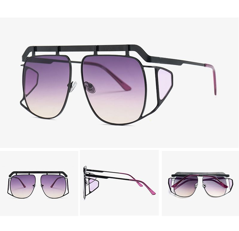 897 peekaboo big square oversized sunglasses with side